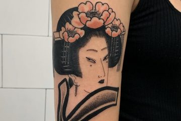 Benny Tattooer flowers geisha Meatshop Tattoo Barcelona