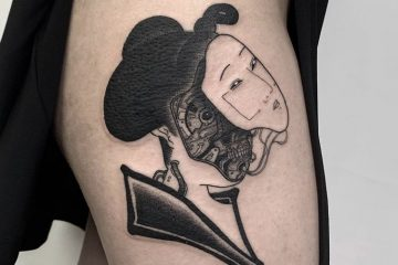 Benny Tattooer new japanese cyber geisha Meatshop Tattoo Barcelona