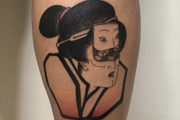 Benny Tattooer japanese cyber geisha Meatshop Tattoo Barcelona