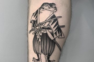 Benny Tattooer samurai frog Meatshop Tattoo Barcelona