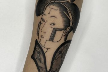 Benny Tattooer cyber geisha Meatshop Tattoo Barcelona
