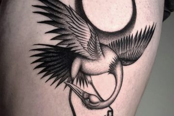 Alex Cream Meatshop Tattoo Barcelona Crane Moon (1)