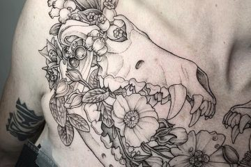 Subliquida Flowers Skull Meatshop Tattoo 2020