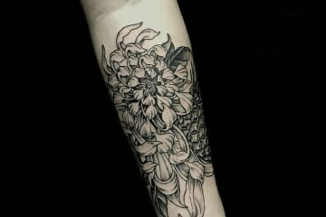 Subliquida Meatshop Tattoo Barcelona 2020 chrysanthemum