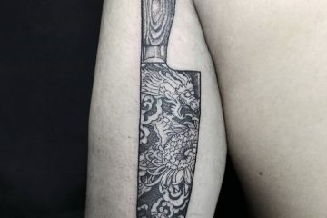 Subliquida Meatshop Tattoo Barcelona 2020 knife