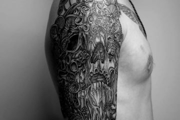 Subliquida Meatshop Tattoo Barcelona 2020 skull infected